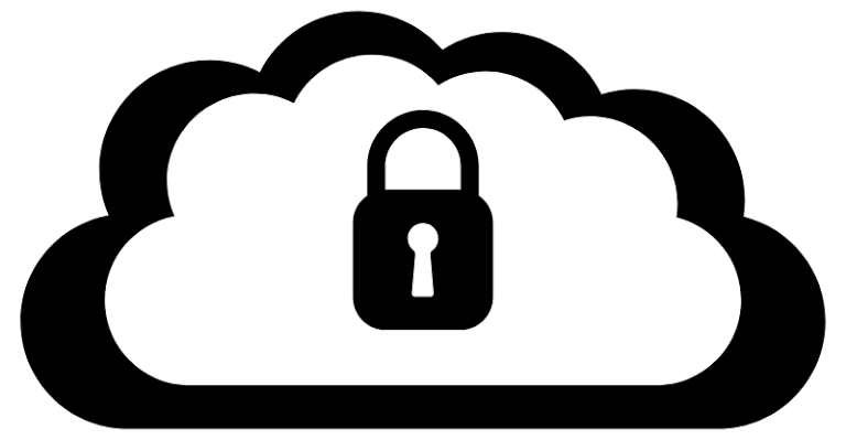 How can you secure data when it's stored in the cloud?